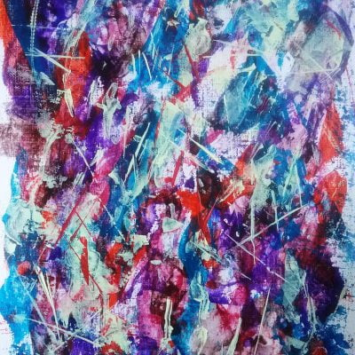 several acrylic colours making a beautiful abstract painting