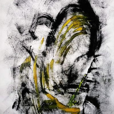 abstract oil painting by suhail mitoubsi