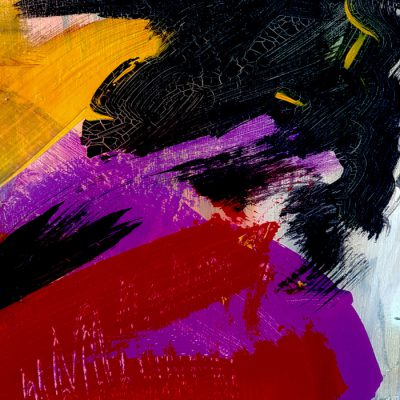 brush strokes abstract painting by suhail mitoubsi