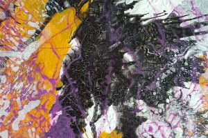 contemporary abstract painting close up by suhail mitoubsi