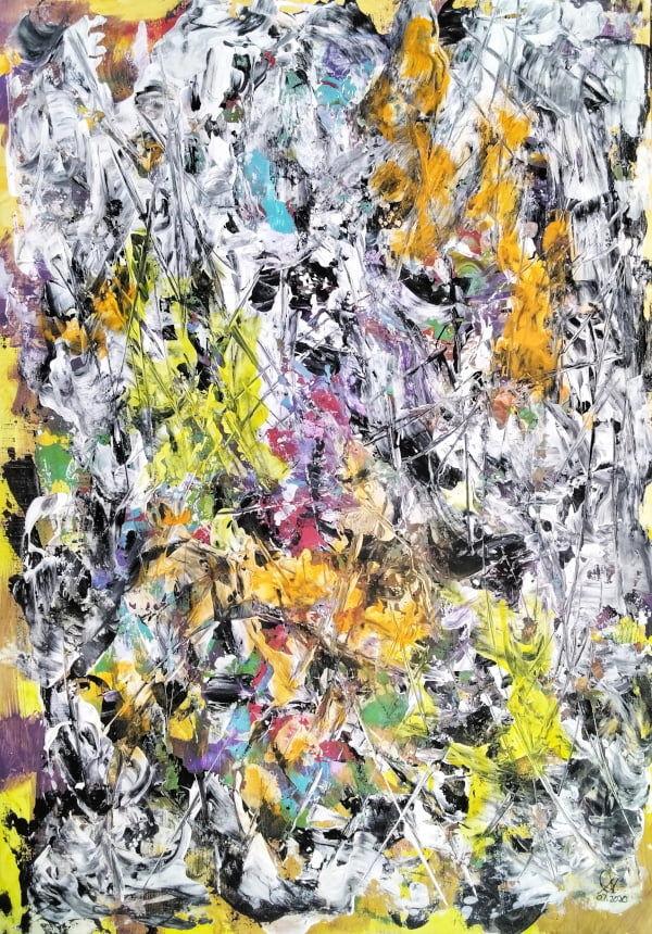 contemporary abstract painting by suhail mitoubsi