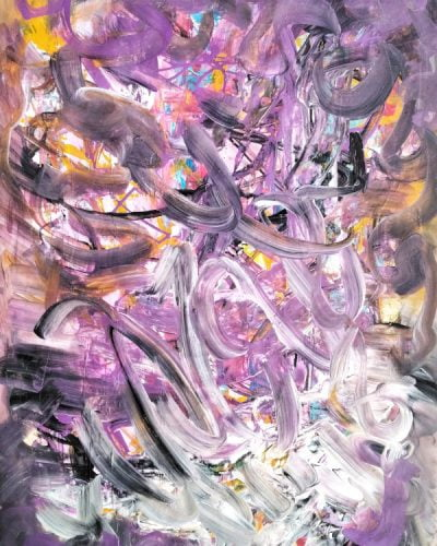 acrylic abstract painting for sale by suhail mitoubsi